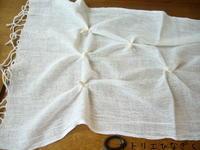 夏用ストール(絞り染め) - アトリエひなぎく 手織り日記