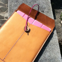 iPad用茶封筒型革ケース - 秘密基地な日々