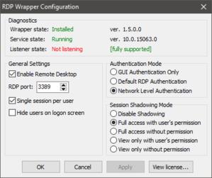 """リモートデスクトップツールの RDP Wrapper はHome版では動作しなくなったようです。""""Listener state: Not listening"""" - 備忘録"""