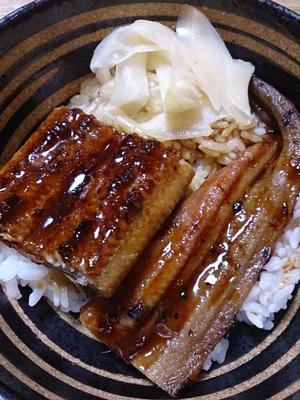 うなぎアナゴ丼(笑) -