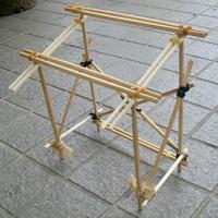 竹製の一輪車小屋のモデル作り - hills飛地 長距離自転車乗り(輪行含む)の日誌