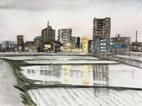 【水彩画】No381 我が街 - ジェンマとおっちゃんの日記2