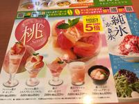 デニーズ   桃のミルクプリンミニパルフェ - ふわふわ日記