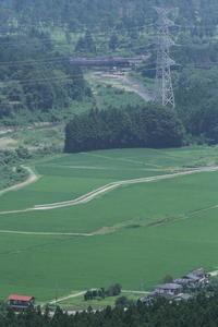 夏の青田と小さな鉄橋 - 2017年夏・東武鬼怒川線試運転 - - ねこの撮った汽車