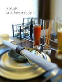 「9月のテーブルコーディネート&おもてなし料理レッスン」のご案内♪ - ATELIER Let's have a party ! (アトリエレッツハブアパーティー)         テーブルコーディネート&おもてなし料理教室