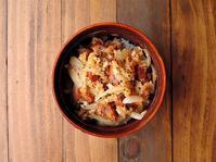 7/25(火)甘辛焼豚卵丼弁当 - おひとりさまの食卓plus