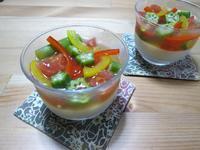 食べて美味しい♪見て楽しい♪ 胡麻豆腐と彩り野菜のゼリー寄せ - candy&sarry&・・・2