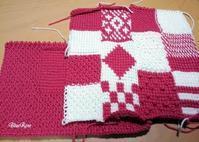 アフガン編みのクッション その3 - ルーマニアン・マクラメに魅せられて