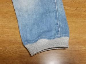 メンズデニムの裾リブ付けライトブルー - T.Y.closet~小柄な大人の今は!プチプラ生活~