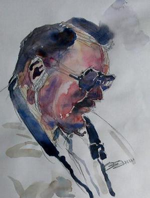 ちょっとシニアチック Watercolor by Osamu 水彩画家のロス日記 Watercolorist Diary