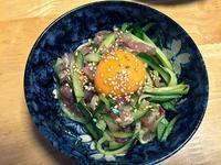 「生ハムユッケ」を作った♪簡単で美味しい(*^.^*)♪ - CHOKOBALLCAFE