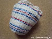 作品展用 小棗用仕覆形になってくる - ロシアから白樺細工