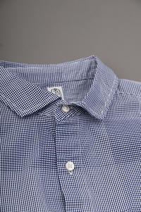 KATO  Check S/S Shirt (Navy) - un.regard.moderne
