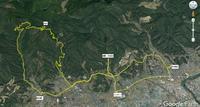 ロードラン 農免道路から大山山頂周回 - 阿讃の山と谷