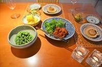 のんびり家で寛ぎながらの夕食 - まほろば日記