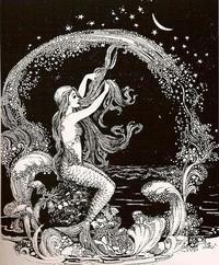 作者不詳のVintage Mermaid画 - Books