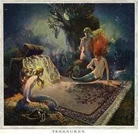 絨毯広告のVintage Mermaid画 - Books