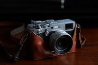FUJIFILM X100F Half leather case - meno mosso