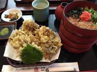割子蕎麦と舞茸天@一福 アルパーク - 香港と黒猫とイズタマアル2