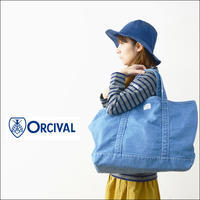 ORCIVAL[オーチバル・オーシバル] STONE WASH DENIM LARGE TOTE BAG [RC-7104HDN]デニムトートバッグ Lサイズ  MEN'S/LADY'S - refalt   ...   kamp temps