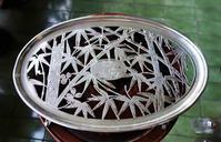 仏クリストフル竹透かし彫りの楕円トレイ174 - スペイン・バルセロナ・アンティーク gyu's shop