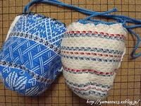 作品展用 棗のための仕覆を仕立てる - ロシアから白樺細工