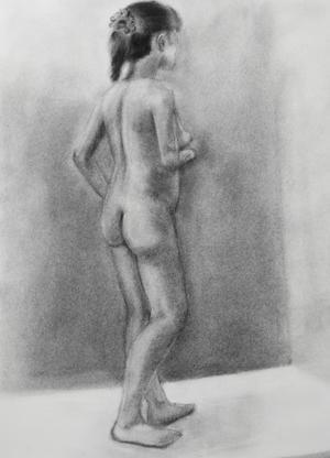 木炭裸婦 -
