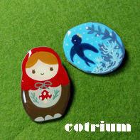 マトちゃんとつばめさん - cotrium(コトリウム) 手作り雑貨(マト・とり・動物など)