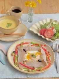 ガレットの朝ごはん - 陶器通販・益子焼 雑貨手作り陶器のサイトショップ 木のねのブログ