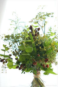 Bouquet rond d'herbe et fruit - * Spice of My Life *