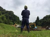 ため池工事の進捗状況です!! - 友進なぅ。