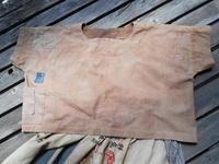 手拭いのスカートに合わせて柿渋染めのブラウスです - 藍ちくちく日記