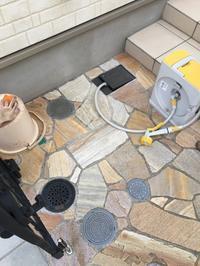 散水栓を立水栓に交換 - 横浜の外構エクステリア&ガーデニングのヨコハマリード☆