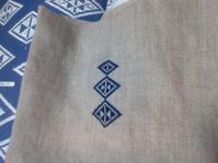菱刺し模様 うろこもん(鱗紋) - 手編みバッグと南部菱刺し『グルグルと菱』