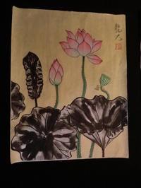 蓮の花・・・No5. 個性的な葉も。 - 嵐山ハイブリッド美術館日記