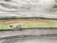 【水彩画】NO382 国道244号西進中 - ジェンマとおっちゃんの日記2