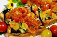■時短5分で朝ベジ【揚げ茄子のトマチートースト サルサディップかけ】 - 「料理と趣味の部屋」