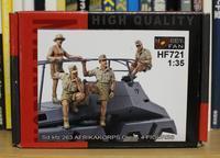 HOBBY FAN HF721 Sd.kfz 263 AFRIKAKORPS Crew 4 FIGURES - Post-Retirement Modelling Life