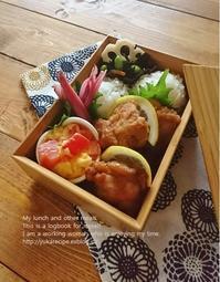 8.5 から揚げ弁当 - YUKA'sレシピ♪