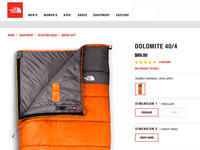 THE NORTH FACE  DOLOMITE 40/4 Sleeping Bag - Fly Me to the Moon