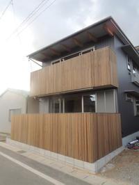 「通じる家/岡崎]  外縁手摺設置 - KANO空感設計のあすまい空感日記