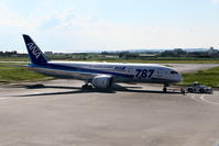2017宮古空港 その5 ANA B787-8のプッシュバックとタキシング - 南の島の飛行機日記