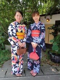 スッキリ、爽やか、レトロな浴衣で。 - 京都嵐山 着物レンタル&着付け「遊月」