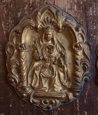 聖母子像レリーフ 家具部品 2点1組  /630 - Glicinia 古道具店