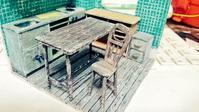 椅子と上棚案が完成(ついでにツール購入も検討) - およそ0.1m2のミニチュア製作