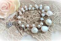 ラップブレスレット ~ホワイト~ - Bijoux  du  Bonheur ~ビジュー ドゥ ボヌール~