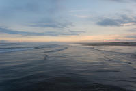 今日の夕焼け。 - 東に向かえば海がある