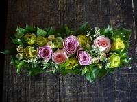 お世話になった方へ。「さりげなくピンクをいれて」。中の島2条にお届け。2017/08/02。 - 札幌 花屋 meLL flowers
