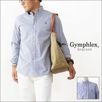 Gymphlex [ジムフレックス] 100/2 STRIPE B.D. LS SHIRTS [J-0643TSS] ボタンダウン ストライプシャツ MEN'S - refalt   ...   kamp temps