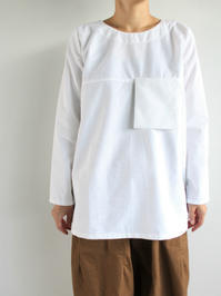 Worker's Nobility POCKET SHIRT / WHITE COTTON - 『Bumpkins putting on airs』